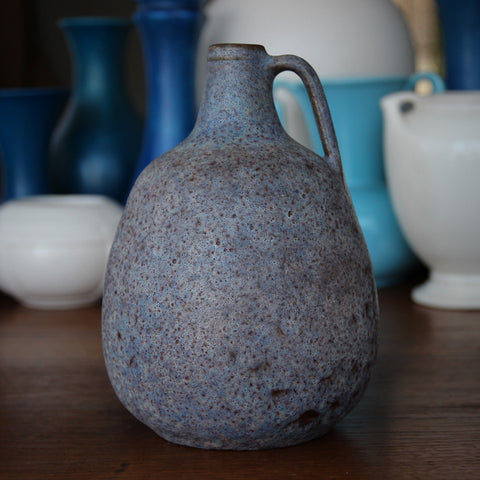 Tena West German Pitcher with Mottled Grey, Brown and Blue Glazes (LEO Design)
