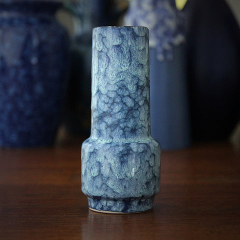 "Jopeko West German Bud Vase with Dappled ""Cloudy Sky"" Glaze (LEO Design)"