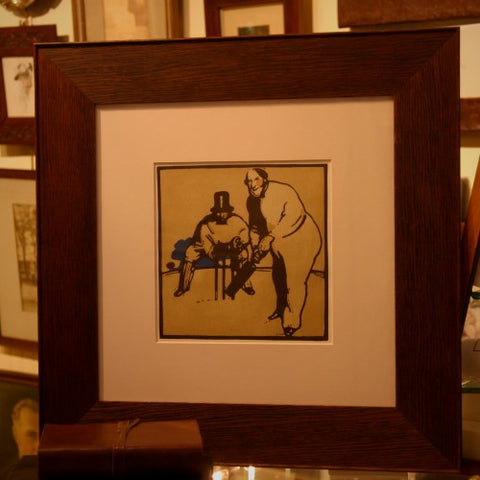 Cricketer Print by Sir William Nicholson, RA (LEO Design)