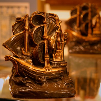 Bronze-Clad Spanish Armada Bookends (LEO Design)