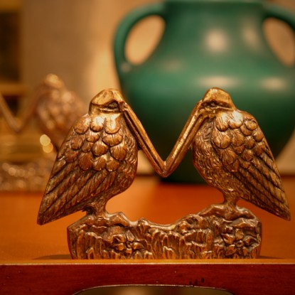 English Brass Pelican Bookends (LEO Design)