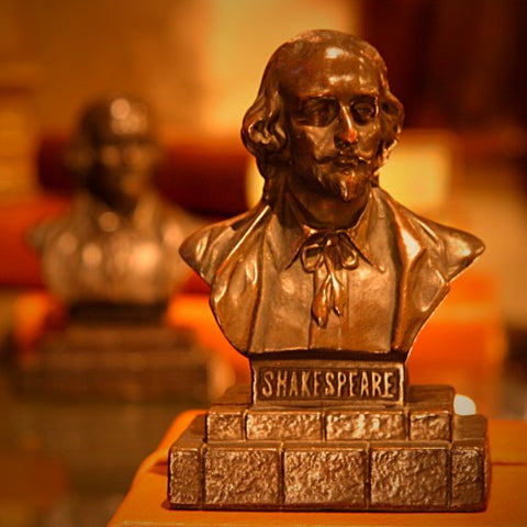 Bronze-Clad William Shakespeare Bust Bookends (LEO Design)