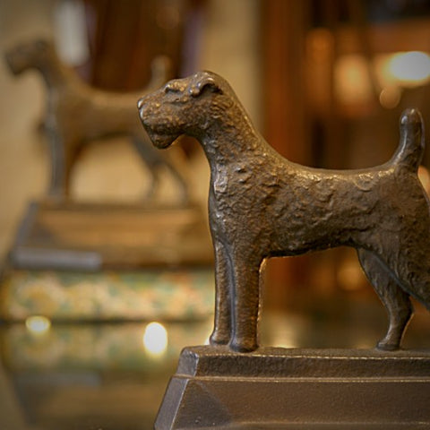 Cast Iron Terrier Bookends (LEO Design)