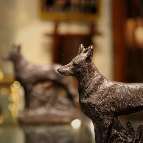 Cast Iron Coyote Bookends (LEO Design)