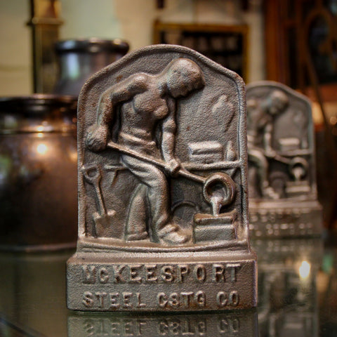 Heavy Steel Bookends from McKeesport Foundry (LEO Design)