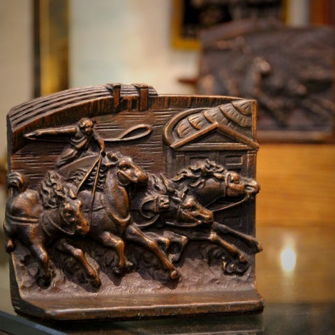 Cast Iron Charioteer Bookends (LEO Design)