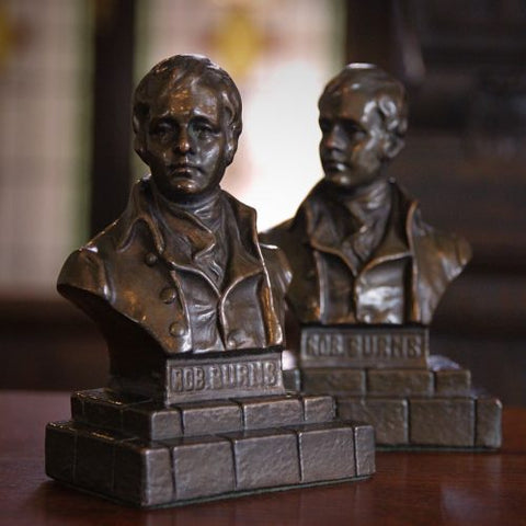 Cast-Bronze Bookends of Scots Poet Robert Burns (LEO Design)
