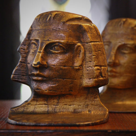 Cast Iron Sphinx of Giza Bookends (LEO Design)