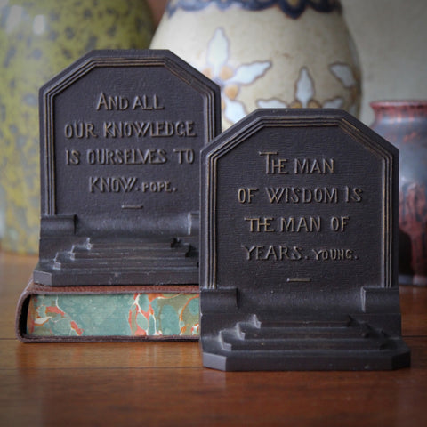 Great British Writers Cast Iron Bookends by Bradley & Hubbard (LEO Design)