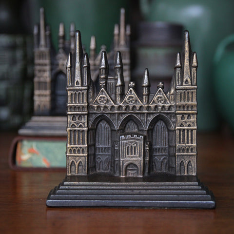 Cast Iron Bookends of Peterborough Cathedral (England)