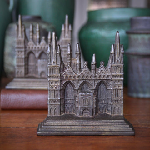 Cast Iron Bookends of Peterborough Cathedral (England) by Connecticut Foundry (LEO Design)