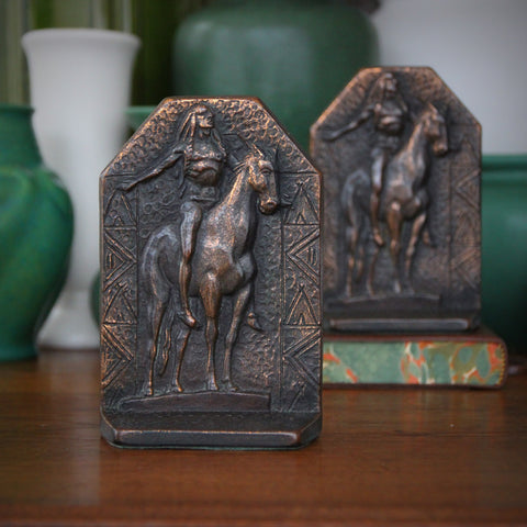 """Cast Iron Bookend of Cyrus Dallin's """"Appeal to the Great Spirit"""" (LEO Design)"""
