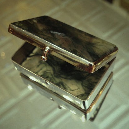 Scottish Moss Agate Pill Box (LEO Design)