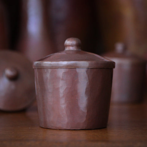 Hand-Hammered Copper Canister with Cover (LEO Design)