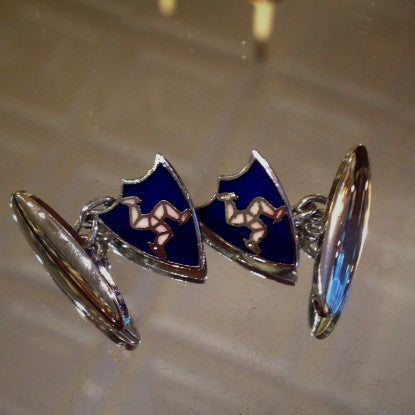Enameled Isle of Man Cufflinks (LEO Design)