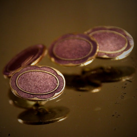 Art Deco Cufflinks with Violet Enameling (LEO Design)