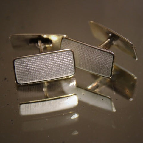 Norwegian Art Deco Enameled Silver Cufflinks by Aksel Holmsen (LEO Design)