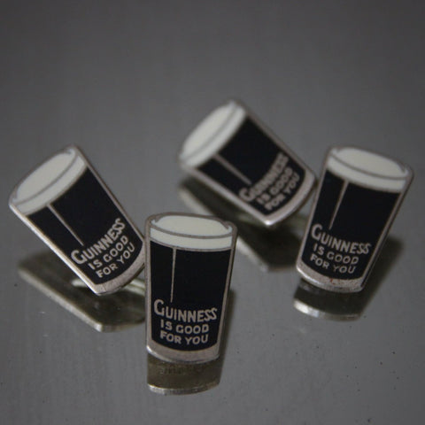 Guinness Beer Enameled Cufflinks (LEO Design)