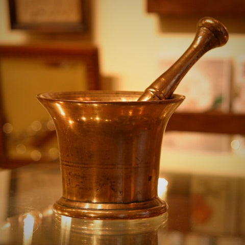 Victorian English Bronze Mortar & Pestle (LEO Design)