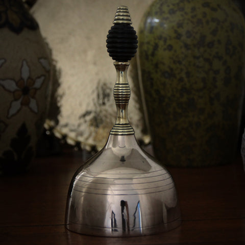 English Aesthetic Movement School Bell with Turned Ebonywood Finial (LEO Design)