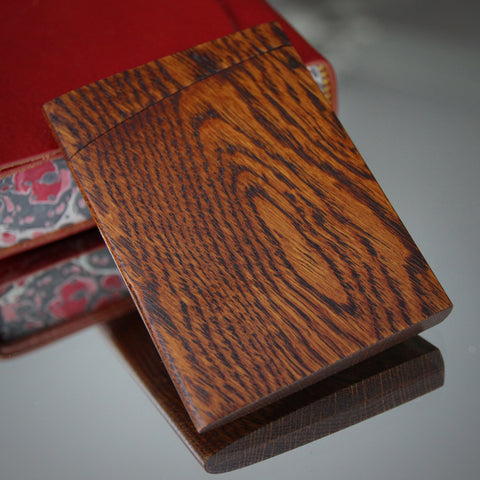 Japanese Hand-Sculpted and -Finished Oak Business Card Holder (LEO Design)