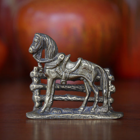English Cast Brass Equestrian Letter Rack (LEO Design)