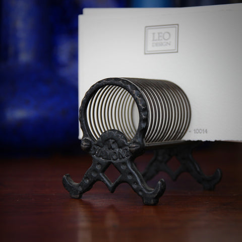 K Diamond Cast Iron Spring-Form Letter Holder (LEO Design)