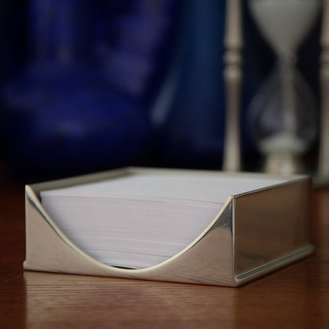 Polished Pewter Notepad Holder by Erik Magnussen for Royal Selangor (LEO Design)