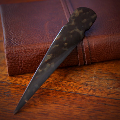 English Art Deco Faux Tortoiseshell Celluloid Letterknife (LEO Design)