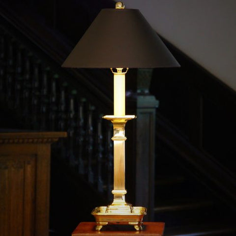 "Brass ""Bank Manager's Lamp"" with Tray-Form Base"