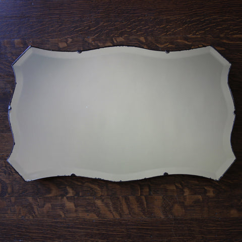 "English Late Arts & Crafts ""Chevron"" Mirror (LEO Design)"