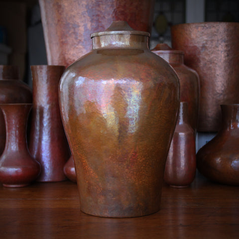 Hand-Beaten Copper Classic Ginger Jar with Cover (LEO Design)
