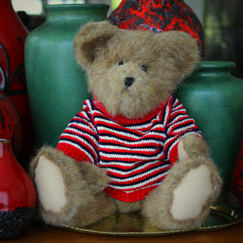 Faux Mohair Teddy Bear with Knitted Chenille Sweater (LEO Design)