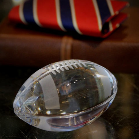 Japanese Crystal Football Paperweight (LEO Design)