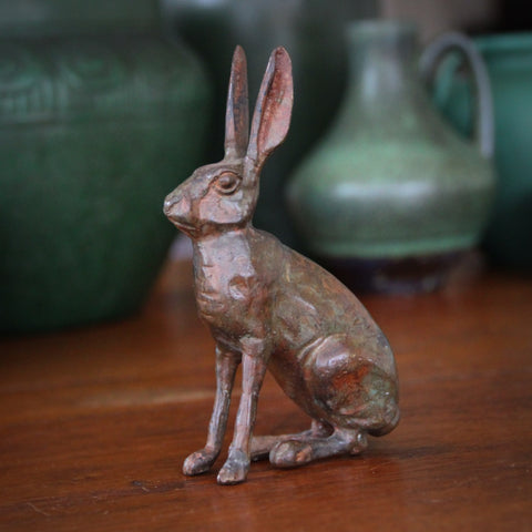 Cast Brass Jackrabbit Finished with a Bronze Patina (LEO Design)