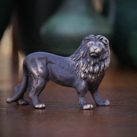 Small Bronze Lion Sculpture (LEO Design)