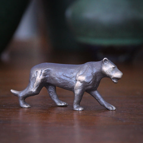 Cast Bronze Stalking Lioness Sculpture (LEO Design)