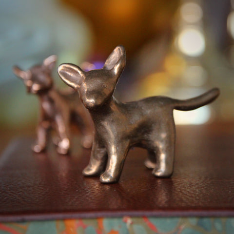 "Cast Bronze ""Puppy L-O-V-E"" Sculpture (LEO Design)"