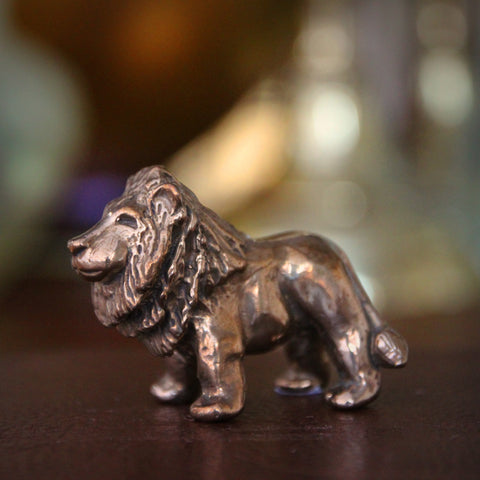 "Bronze ""Courageous"" Lion Sculpture (LEO Design)"