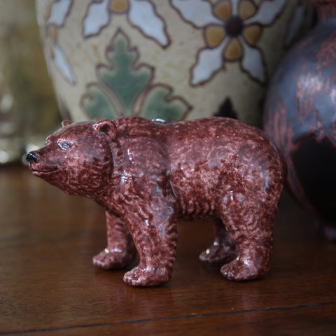 Handmade Russian Ceramic Mama Bear Ornament (LEO Design)
