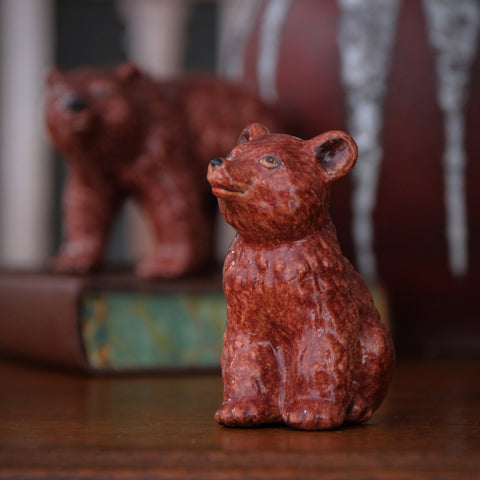 Handmade Russian Ceramic Baby Bear Ornament (LEO Design)