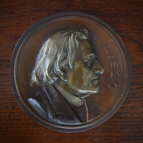 Bronze-Clad Commemorative Plaque of Hungarian Composer Franz Liszt (LEO Design)