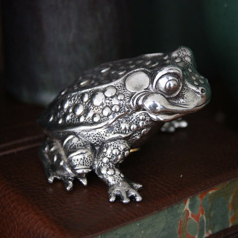 "Silver-Plated ""Lucky Toad"" Music Box - Twinkle Twinkle Little Star (LEO Design)"