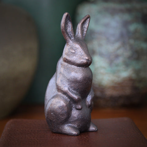 Cast Bronze Standing Rabbit Sculpture (LEO Design)