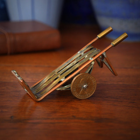 "English ""Shop Class"" Handtruck of Hand-Soldered Copper and Brass (LEO Design)"