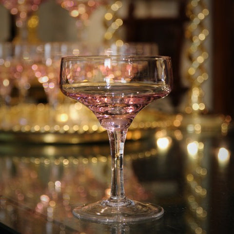 Japanese Rose Blush Crystal Champagne Coupes (LEO Design)