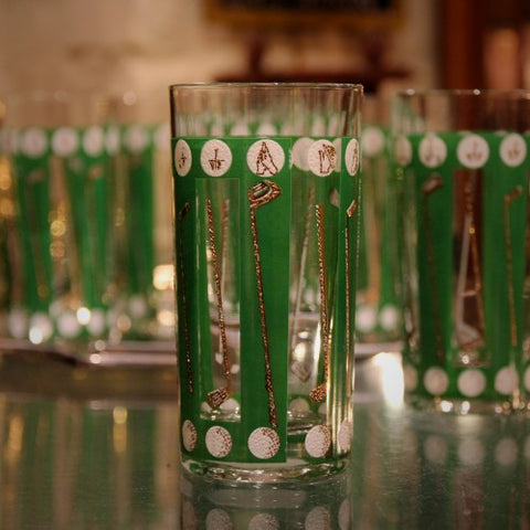 Set of Golf-Themed Highball Tumblers (LEO Design)