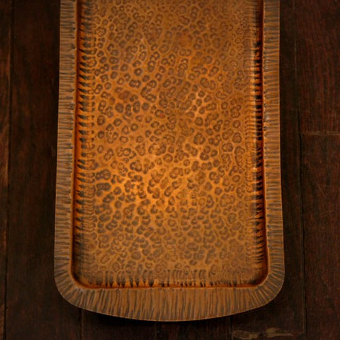 Arts & Crafts Hand-Hammered Copper Tray (LEO Design)