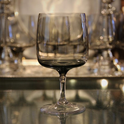 German Modernist Smoked Crystal Wine Glass (LEO Design)