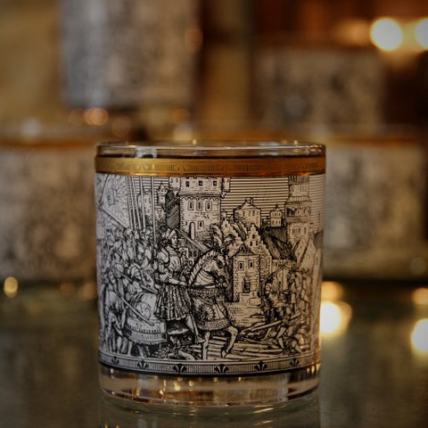 Single Old Fashioned Rocks Glasses with Albrecht Dürer Inspired Decoration (LEO Design)
